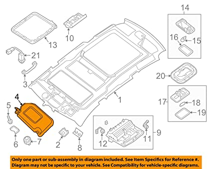 Amazon.com  Sun Visor PATHFINDER 2013-2016  Automotive 95574405a46