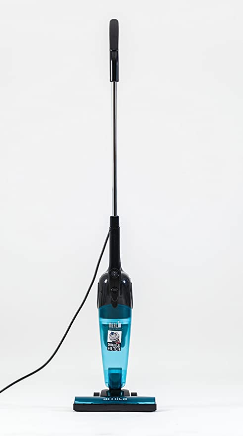 Merlin 2 in 1 Mini Handheld/Stick 500 Watt Bagless Corded Vacuum with Tools (Blue)