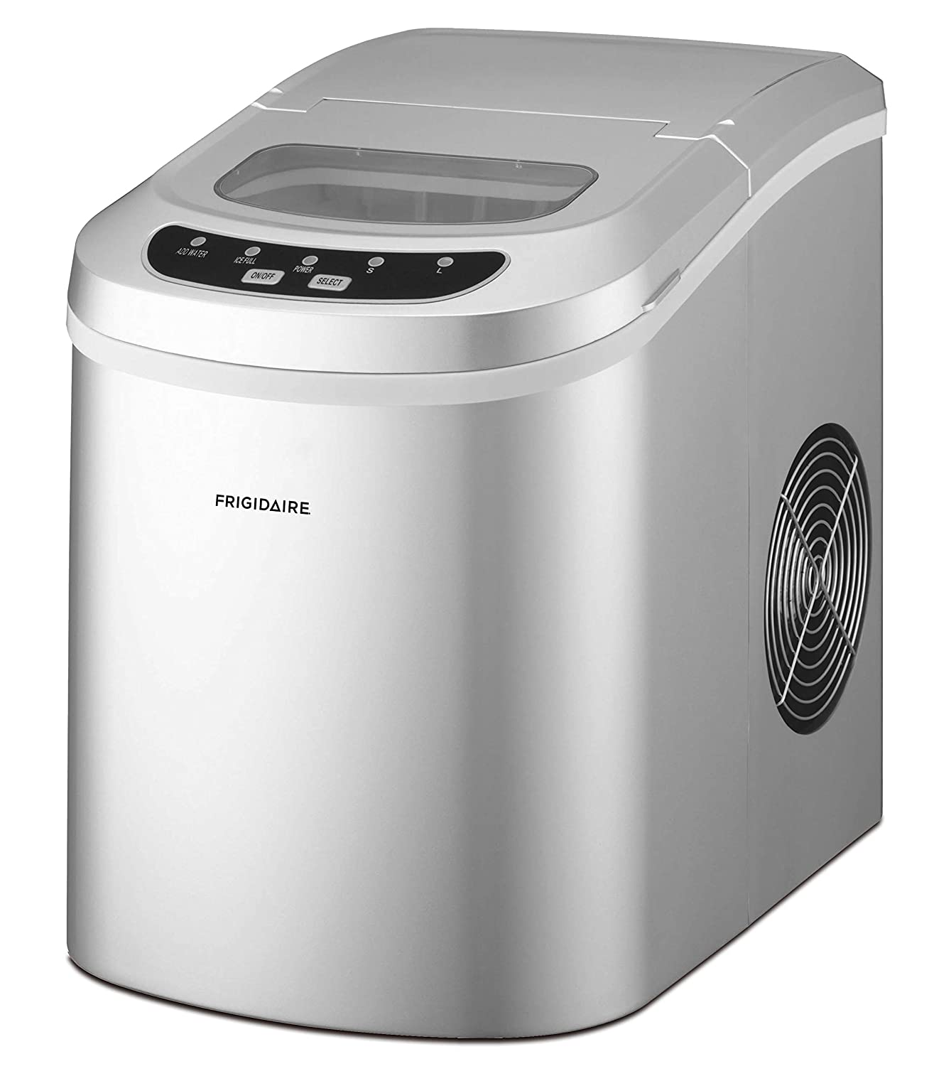 Frigidaire 26 Lbs Counter Top Ice Maker, Silver Curtis