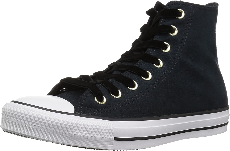 Converse CTAS Hi, Chaussures de Fitness Femme Noir Black Black White 001