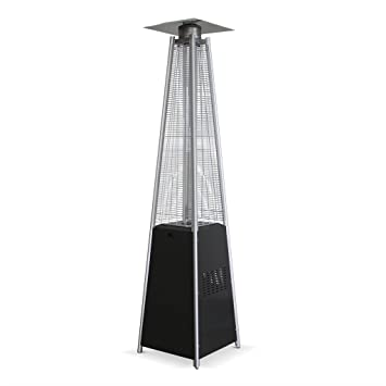 parasol chauffant au gaz 13kw gris aluminium