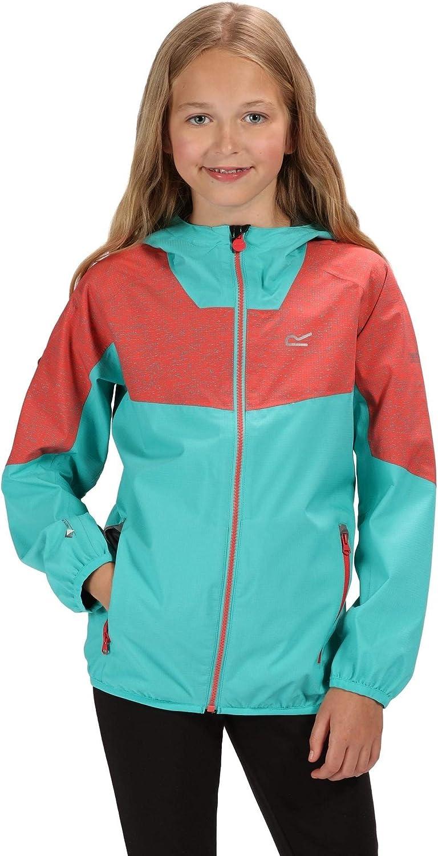 Regatta Kids Deviate II Waterproof and Breathable Lightweight Reflective Outdoor Active Jacket