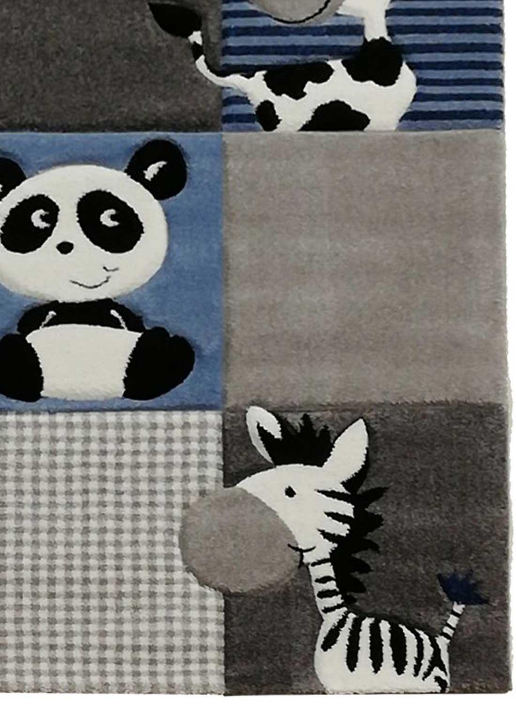 Unamourdetapis Zoo Bleu 60 x 110 cm Tapis pour Enfants Chambre