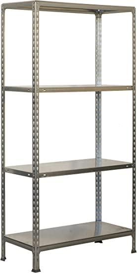 Estantería metálica sin tornillos Ecoclick de 4 estantes ...