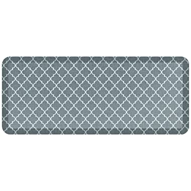 NewLife by GelPro Designer Comfort Mat, 20 by 48-Inch, Lattice Mineral Grey