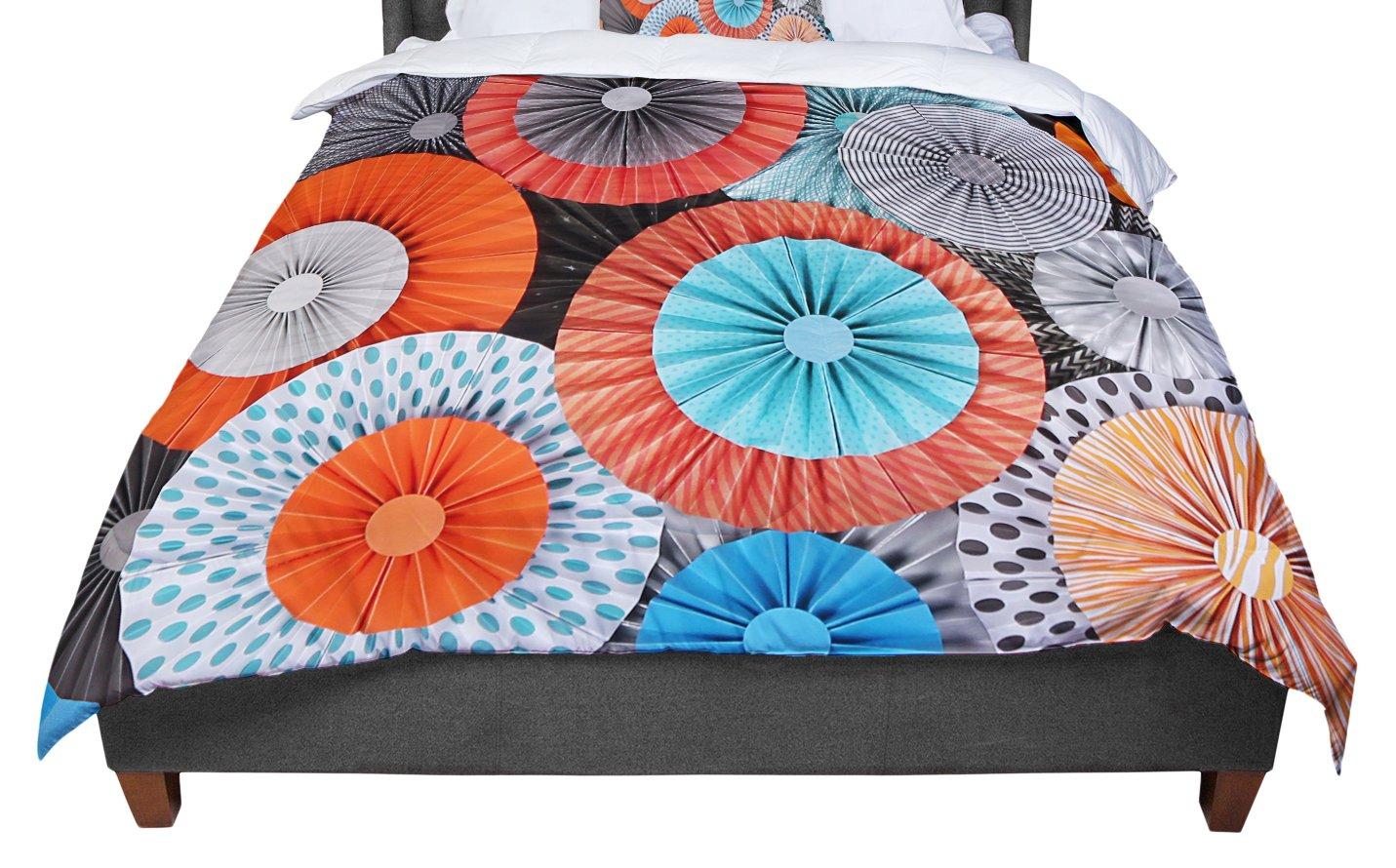 KESS InHouse Heidi Jennings 'Breaking Free' Orange Blue Twin Comforter, 68' X 88'
