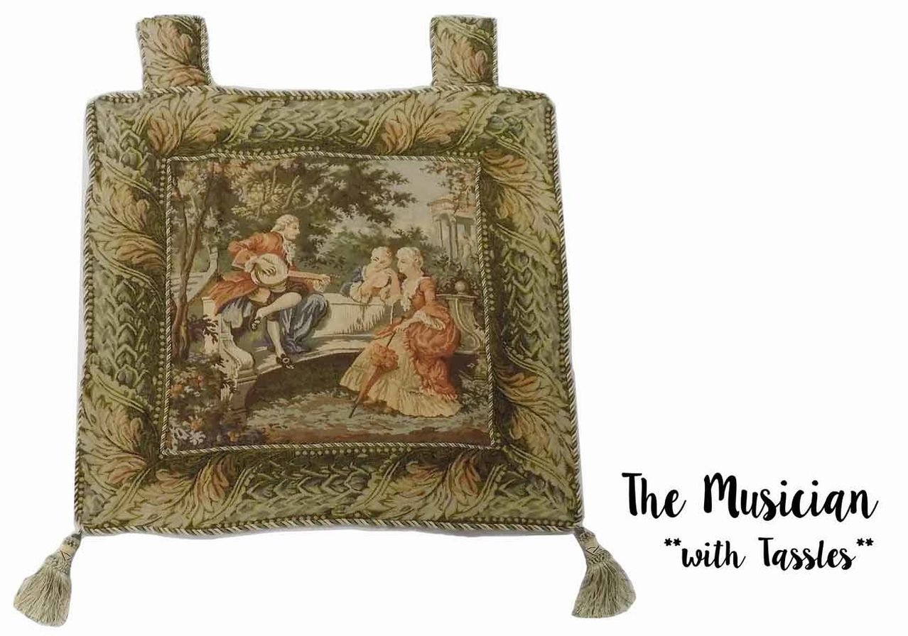 Mybecca Vintage Still Life & Renaissance Wall Art Tapestry, Elegant Wall Hanging and Drapery, 26'' x 26'' with Tassles Art Pillow case, The Musician