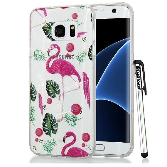 best service a77a1 ac1e2 Amazon.com: Samsung Galaxy S8 Case, Qiyuxow Soft CLEAR Case Bright ...