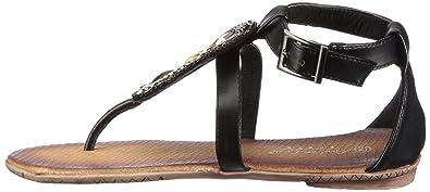 Andrea Conti 0263100, Damen Sandalen/Zehentrenner, Schwarz (schwarz 002), EU 36
