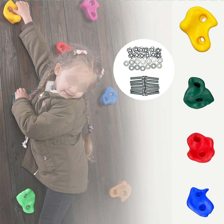 10pcs Wall Stones Kleine Kinderspielzeug Grip Climbing Rock Set sortiert ohne Sc