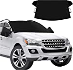CHERYLON Car Windshield Snow Cover with Side Mirror Covers for Most