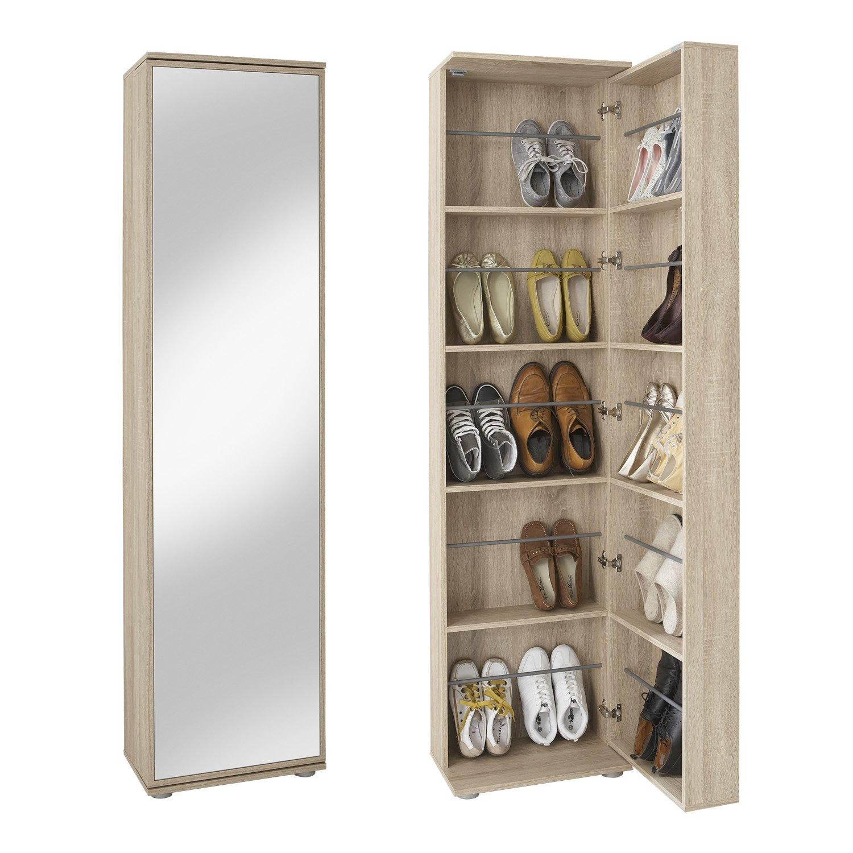 Schuhschrank mit spiegel tipps infos und empfehlungen for Drehbarer schuhschrank
