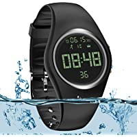 Simple Fitness Tracker [IP68 Swim Waterproof & No APP Need] Walking Pedometer Watch Step Counter with Vibration Alarm…