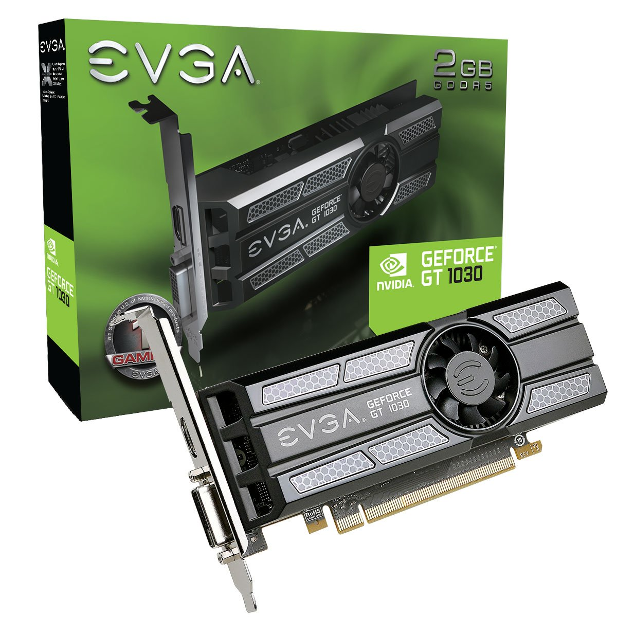 EVGA GeForce GT 1030 SC 2GB GDDR5 Low Profile Graphic Cards 02G-P4-6333-KR by EVGA