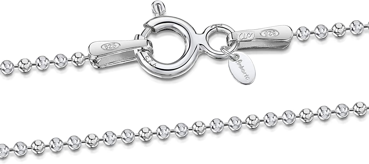 """1.5MM-4.5MM 16-108/"""" STAINLESS STEEL SILVER BALL AND OVAL BEAD CHAIN NECKLACE"""