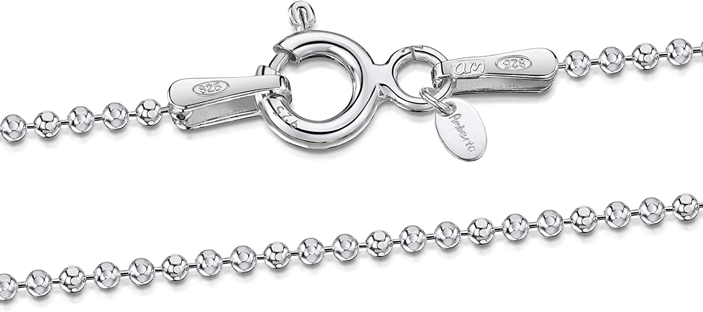 High Polish Silver Plated for Necklaces and Pendants 30 Inch Ball Chain Heavy Duty 2.4 mm Wide with Sturdy Lobster Clasp