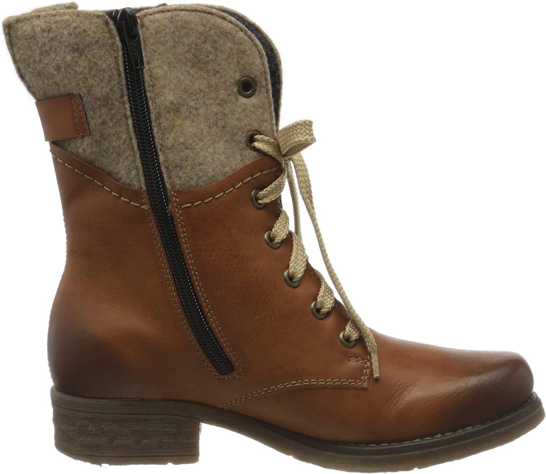 Rieker 79604 Damen Stiefel, Boot, Stiefelette mit Reißverschluss
