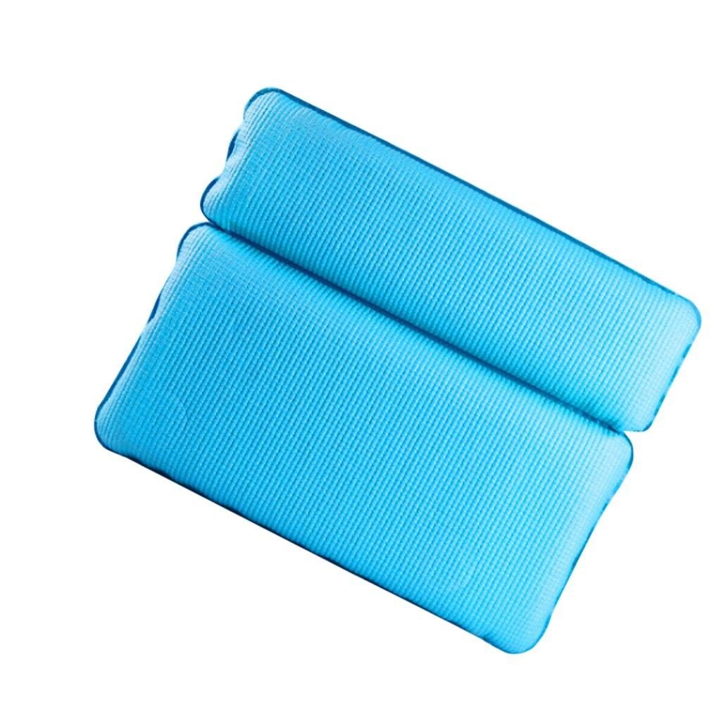 Homyl Neck Support Pillows Non-Slip Spa Bath Tub Waterproof Pillow Shoulder White Black Blue - Blue