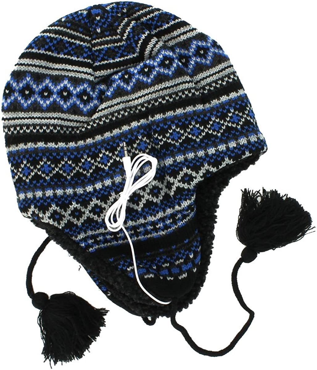Knit Winter Hat One Size Urban Pipeline Headphones Beanie for Men
