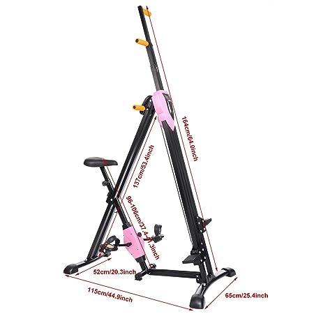 Tomasa Escalador Vertical Gimnasio Máquina Stepper Cardio Entrenamiento Antiadherente Agarra las Piernas: Amazon.es: Deportes y aire libre