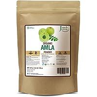 Just Jaivik 100% Organic Amla Powder - Certified Organic By Onecert Asia, 227 Gms / 1/2 Lb Pound / 08 Oz - Indian Gooseberry - Emblica Officinalis - (An Usda Organic Certified Herb)