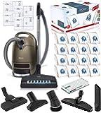 Miele Complete C3 Brilliant Canister HEPA Vacuum Cleaner + SEB-236 Powerhead Bundle - Includes Miele Performance Pack 16…
