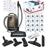 Miele Complete C3 Brilliant Canister HEPA Vacuum Cleaner + SEB-236 Powerhead Bundle - Includes Miele Performance Pack 16 Type