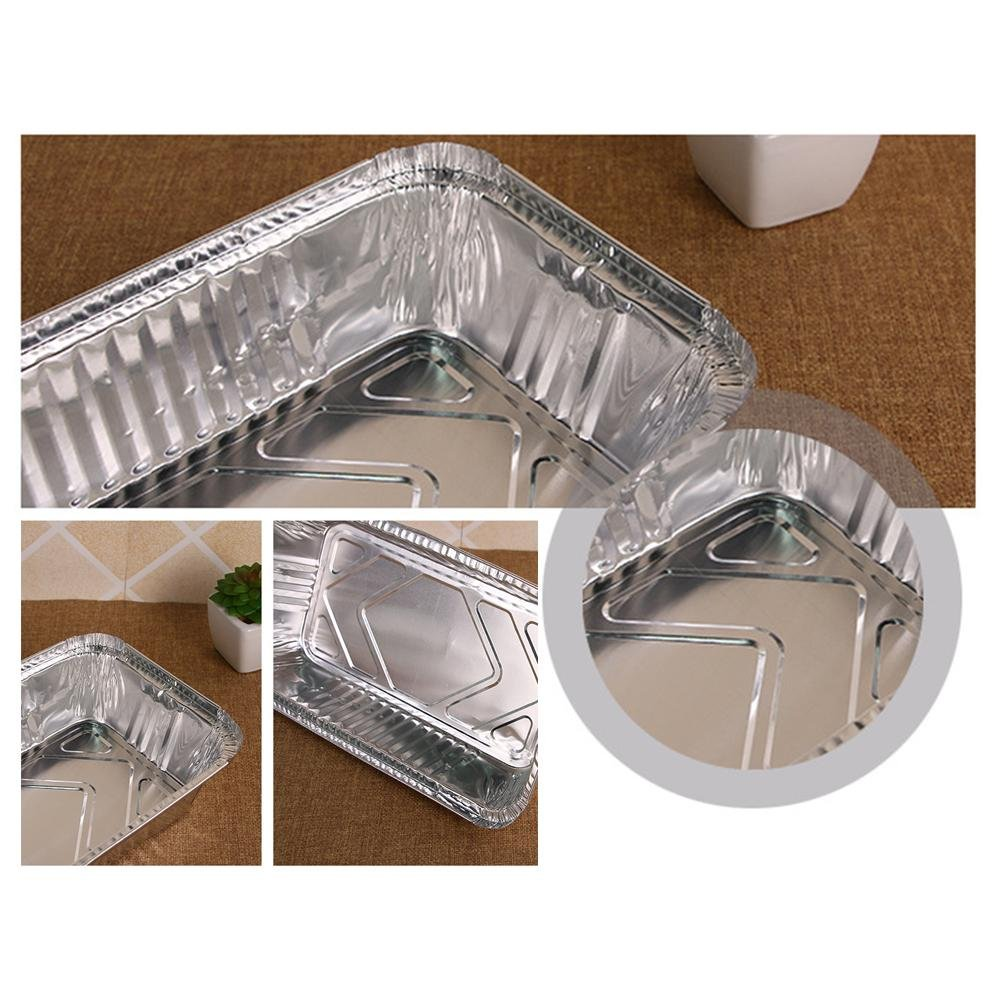 10PCS Aluminum Foil Grill Drip Pans Disposable BBQ Grease Pans,5.47x 4.33x 1.65inch Awhao