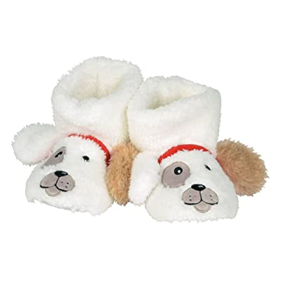 Department 56 Snowpinions, Child Medium (Sizes 9-10) Dog Slippers, Multicolor: Home & Kitchen