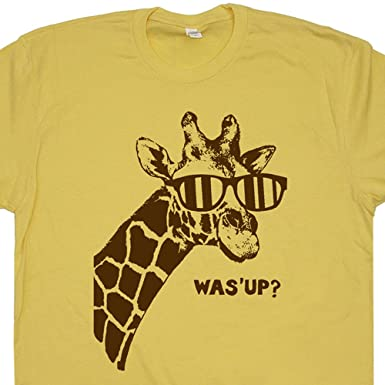 b69a8bfd2ad S - Giraffe T Shirt What s Up Shirts Funny Animal Cute Men Women Kids Humor  Message
