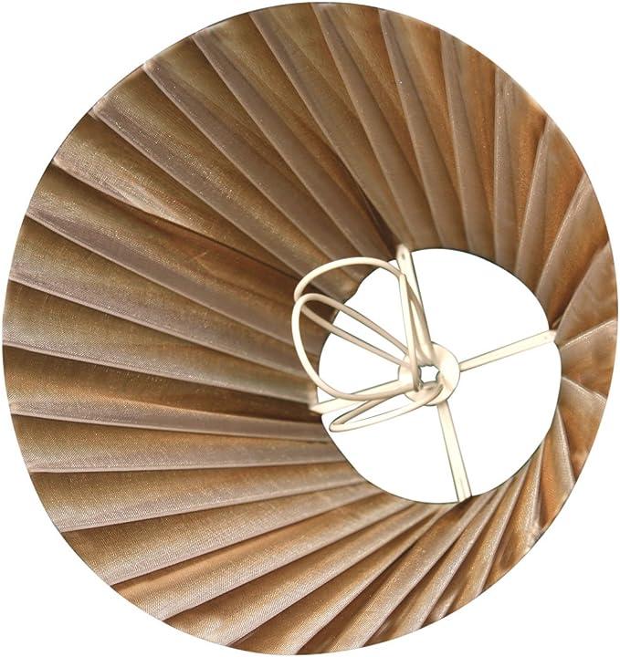 Set of 6 3 x 6 x 4.5 Inc 3 x 6 x 4.5 CS-1014-6-6 Royal Designs CS-1014-6AGL-6 Clip On Organza Empire Chandelier Lamp Shade Antique Gold