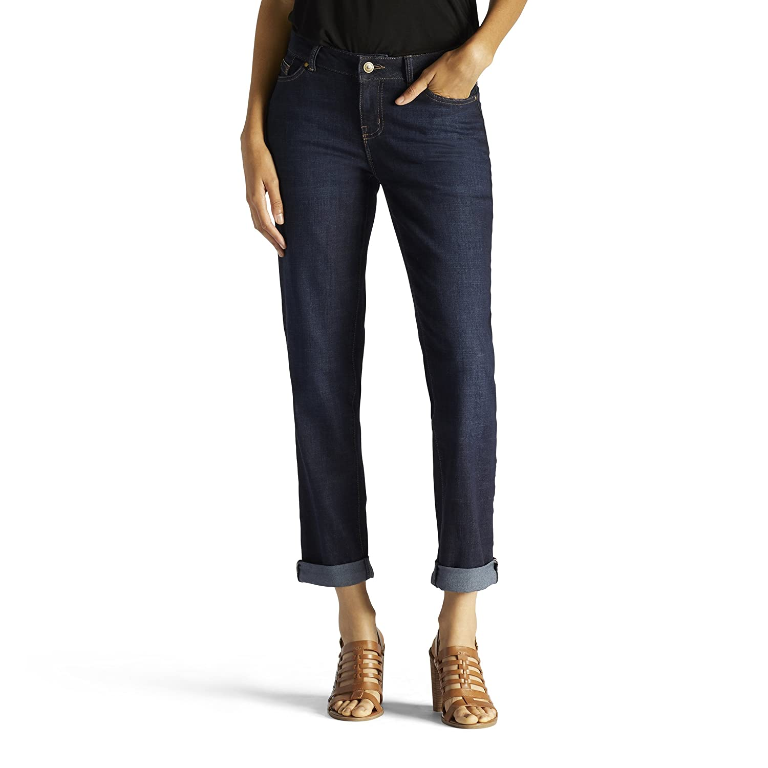 ad88b199 PERFECT COMFORT, PERFECT FIT: These premium stretch denim jeans hug your  curves yet keep their shape wear after wear. The no-gap Waistband ...