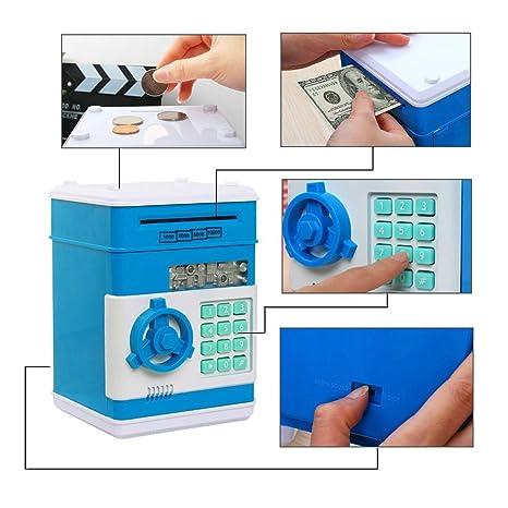 GuDoQi Caja de Ahorro de Dinero Electrónica Digital Mini ATM Ahorro de Bancos Banco de Dinero