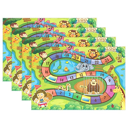 Jereee Kids - Juego de manteles individuales de mesa de zoológico ...
