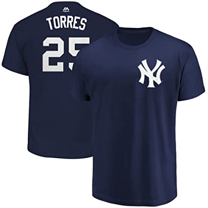 premium selection 3ab71 aafb7 Outerstuff Gleyber Torres New York Yankees #25 Navy Blue Youth Name &  Number Jersey T-Shirt