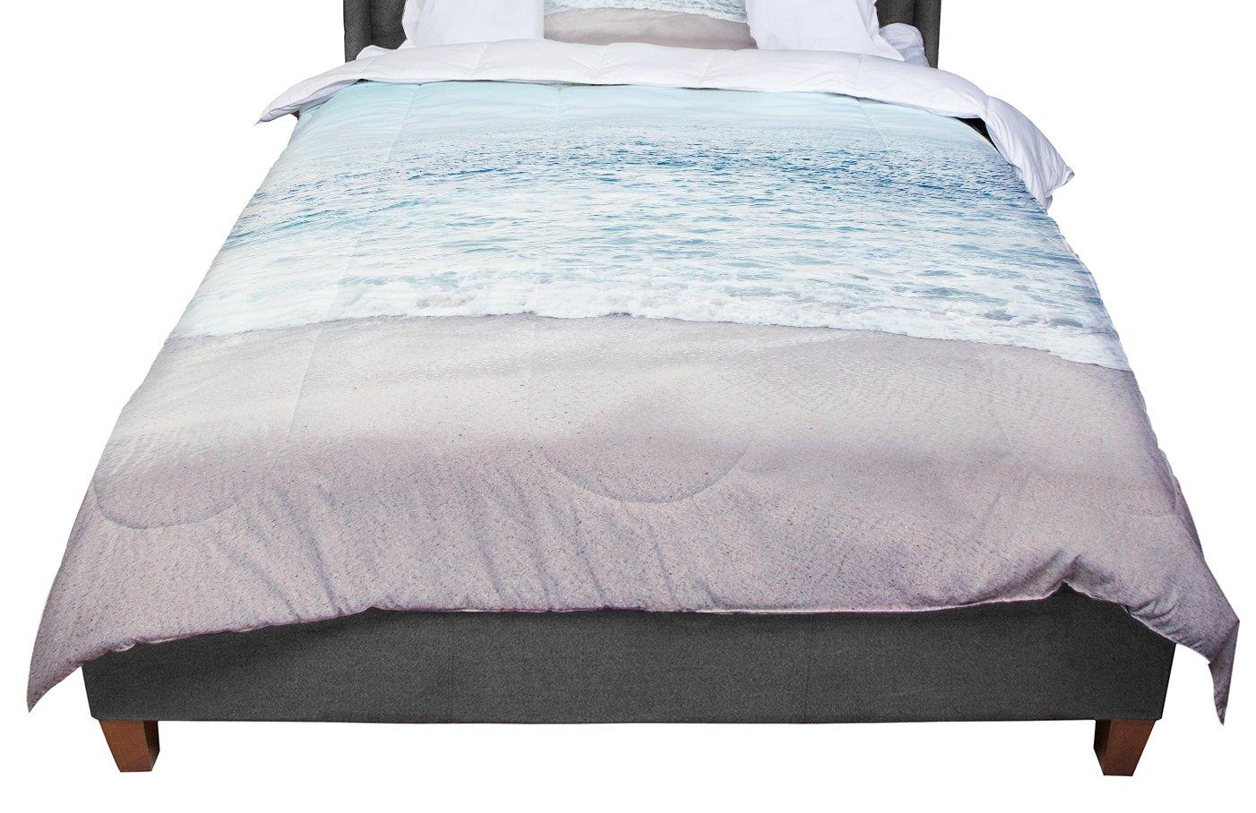KESS InHouse Monika Strigel The Sea Blue Coastal Queen Comforter 88 X 88
