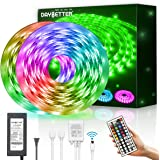 DAYBETTER Led Strip Lights Waterproof 32.8ft 10m Flexible Color Change RGB SMD 5050 with 44 Keys IR Remote Controller…