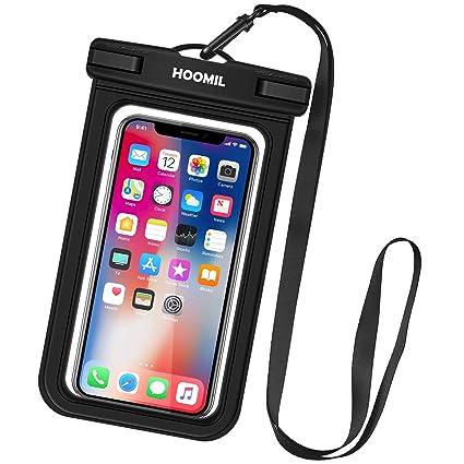 HOOMIL Funda Impermeable Móvil, Universal Impermeable Bolsa para Xiaomi Redmi Note 7/Mi 9T/Apple iPhone XS MAX/XR/8 Plus/Samsung Galaxy M20/S10 ...