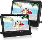 WONNIE 9.5 Car Dual Portable DVD Players, 1024x800 HD LCD TFT,