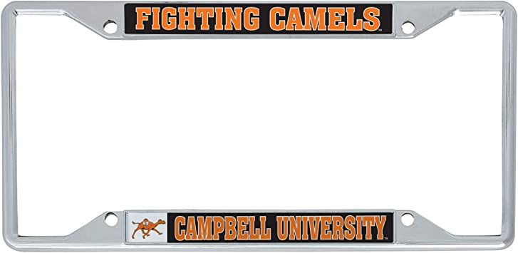 Mascot Desert Cactus Campbell University Fighting Camels NCAA Metal License Plate Frame for Front Back of Car Officially Licensed