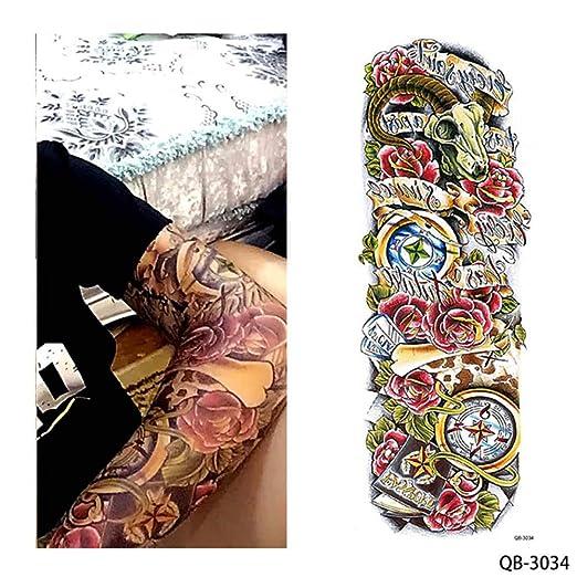 adgkitb 2 Piezas Tatuaje Temporal Pegatina Chica Orar diseño ...