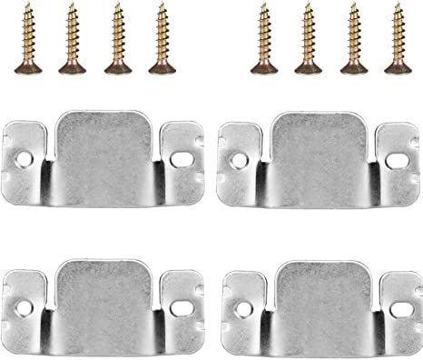 Hilitchi 120Pcs Small Metal Universal Sectional Sofa Interlocking Furniture Connector Bracket with Screws