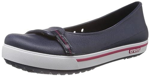 Crocs Crocband 2.5 Flat, Ballerine da Donna, Blu (Blau (Navy/Raspberry