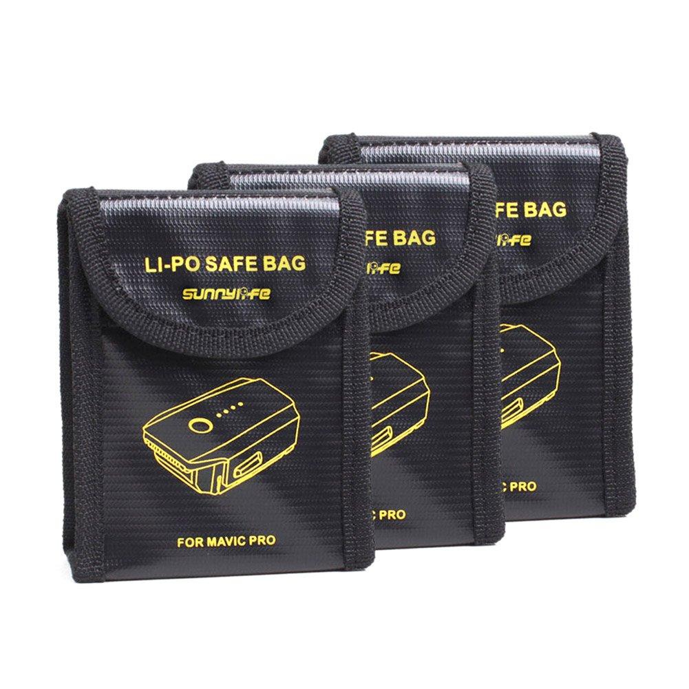 Beyondsky Mavic pro Battery Safe Bag Fire Resistant Explosionproof Battery Charging Storage Battery Portable Bag for DJI Mavic Pro/ DJI Mavic 2 Zoom/Pro (#1)