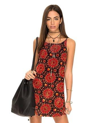 e5ee0d53e96 Motelrocks - Gaia Strappy Slip Dress in Hot Sun Velvet by Motel   Amazon.co.uk  Clothing