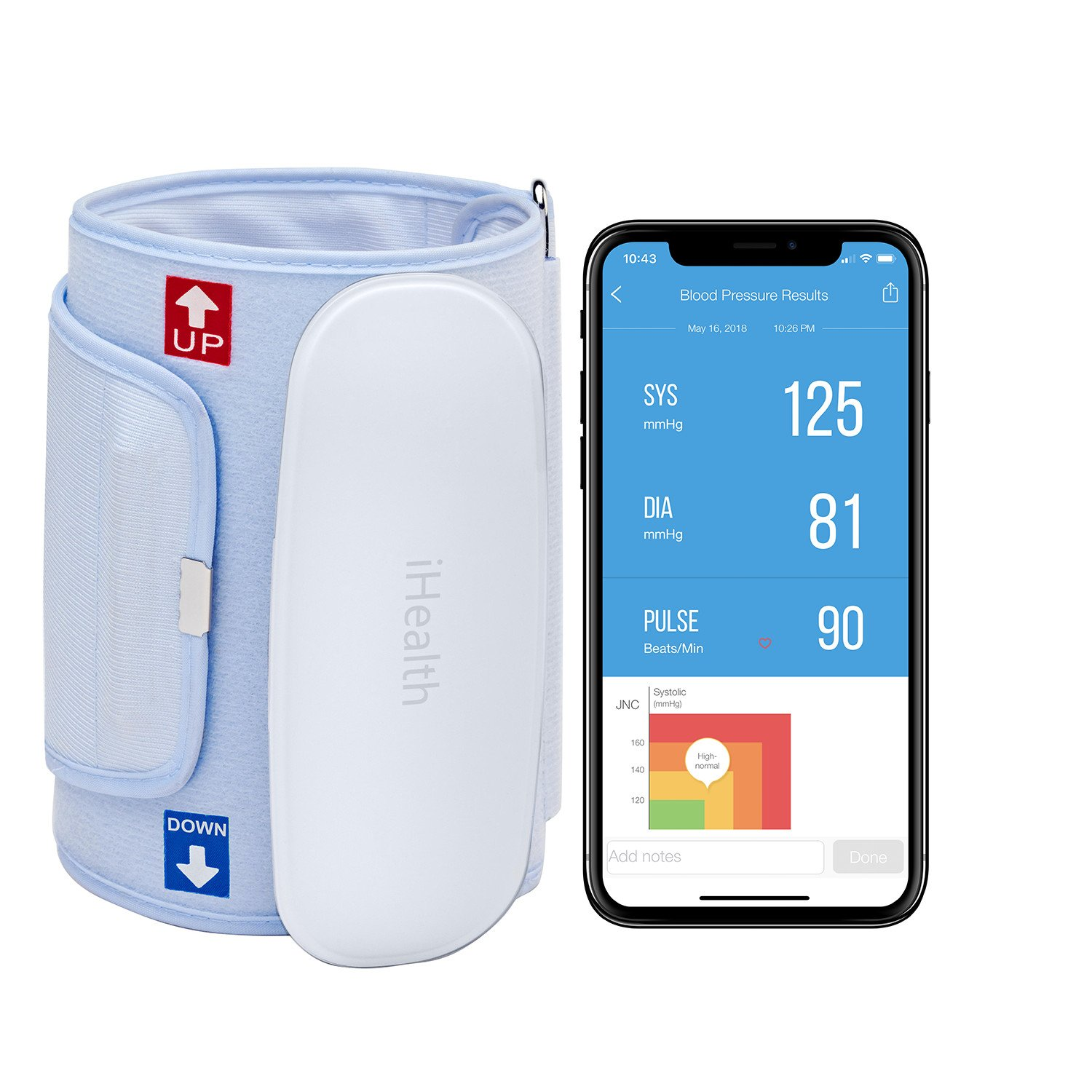 Amazon.com: iHealth Feel Wireless Blood Pressure Monitor: Compact ...