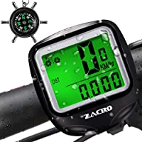Zacro Bike Computer,Original Wireless Bicycle Speedometer with Compass Key Ring,Multi FunctionBike Odometer Cycling