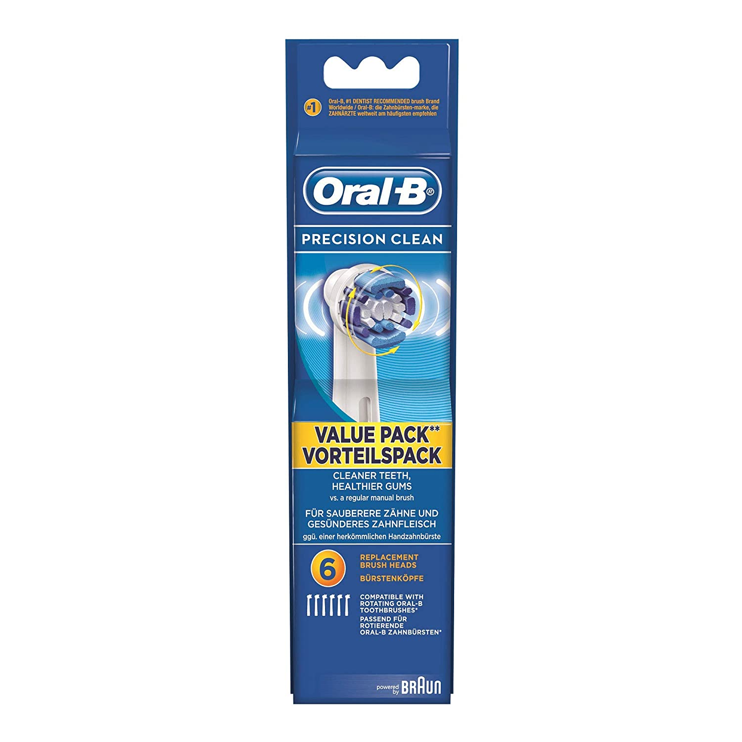 Amazon.com: Braun Oral-B Aufsteckbürsten Precision Clean ...