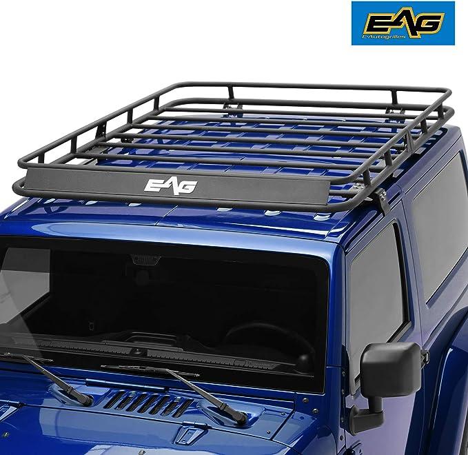 Eag techo accesorio de carga cesta para 2007 – 2017 Jeep Wrangler JK (4,6