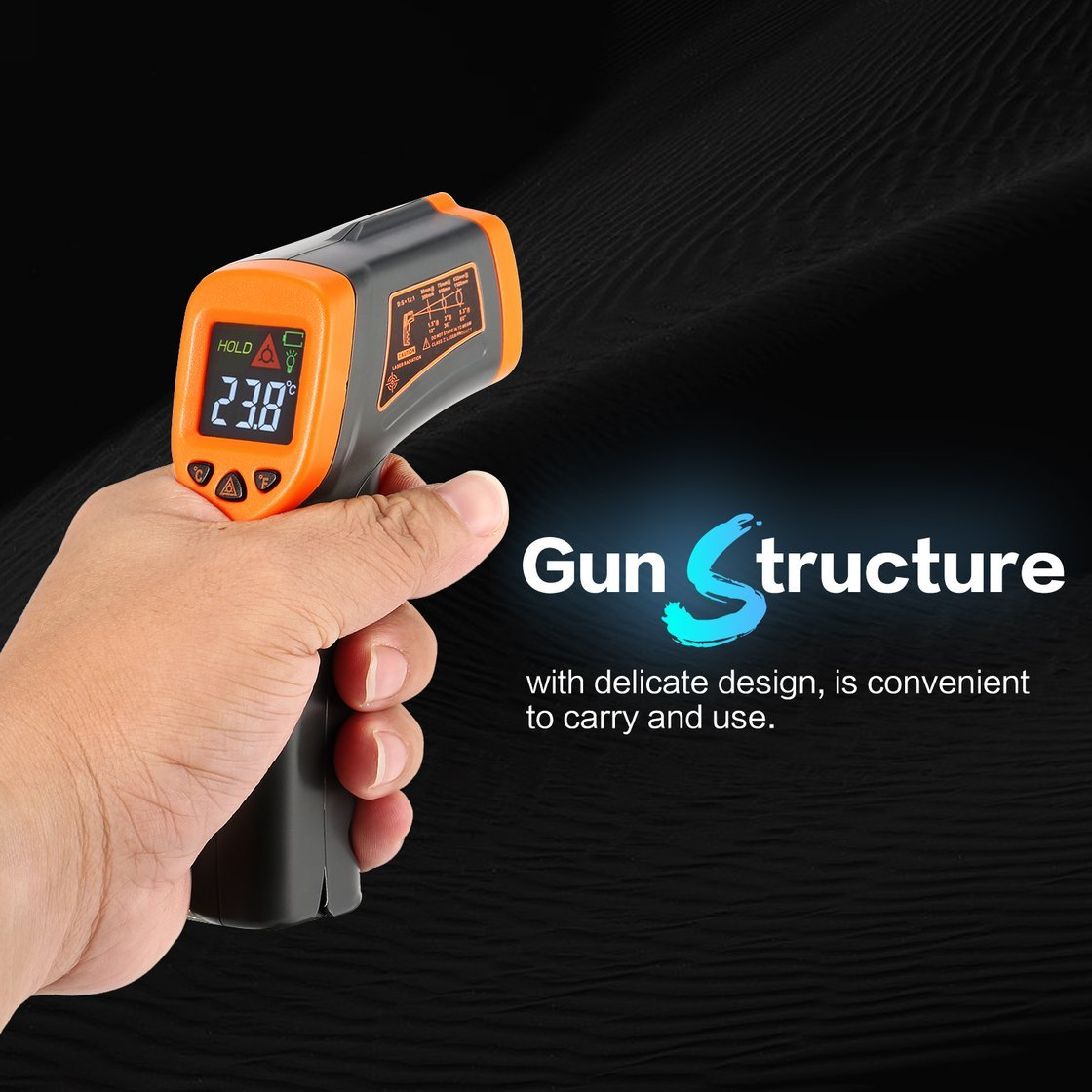 Smart Sensor AT380+ Digital Infrared Handheld Temperature Gun Thermometer with Non-Contact IR Laser Point Backlight -50~380℃ by Exiao (Image #8)